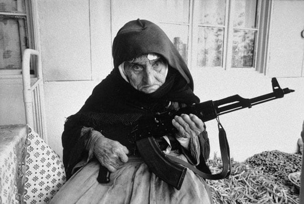 106-year-old Armenian Woman guards home, 1990