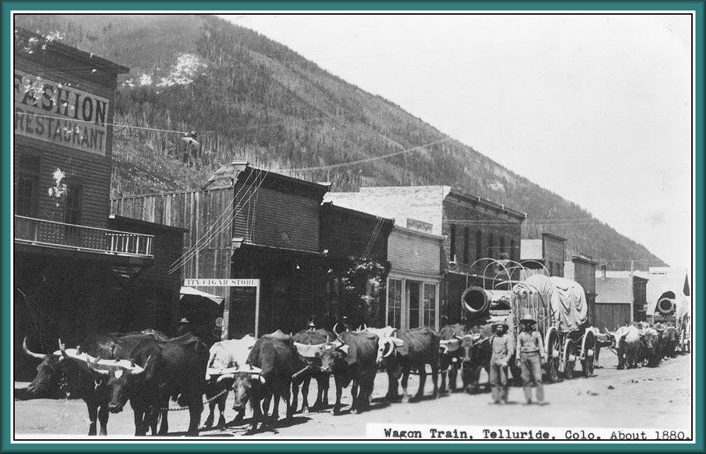 Main street of Telluride, Colorado, 1880