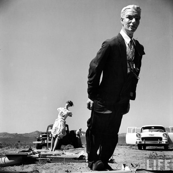 Mannequins from an Atomic Bomb Test Site in Nevada during the Mid-50s