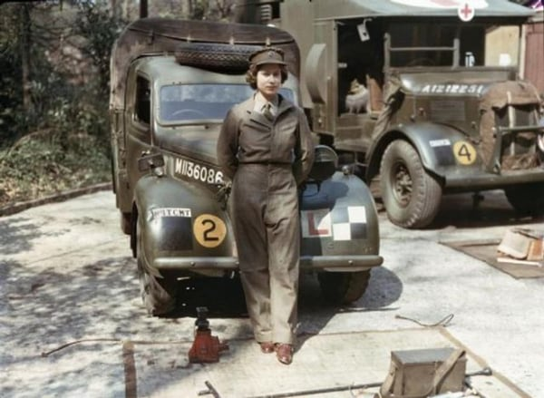 Queen Elizabeth during her WWII service