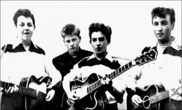 The Beatles at the beginning of their career
