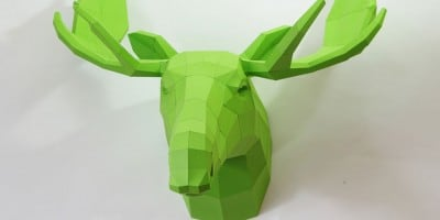 Splendid DIY Paper Sculptures of Geometric Animals