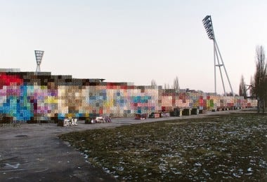 Photography Cross-Stitch And Rebuilding The Berlin Wall 1