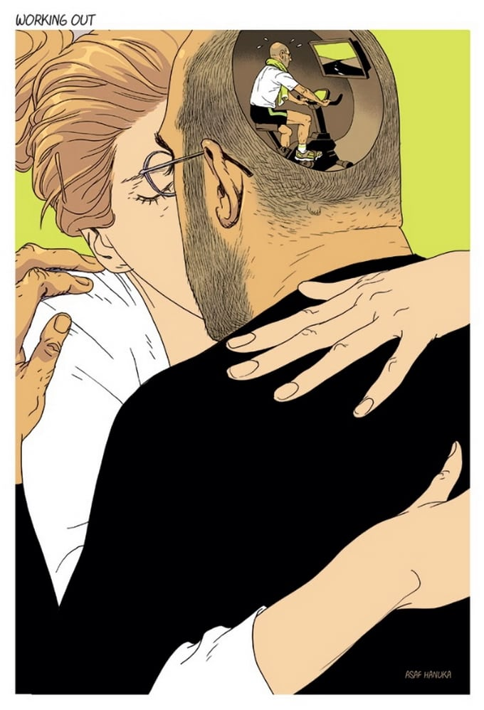Powerful Illustrations By Asaf Hanuka -society