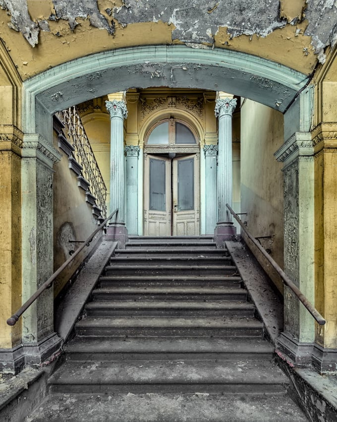 abandoned baroque staircase