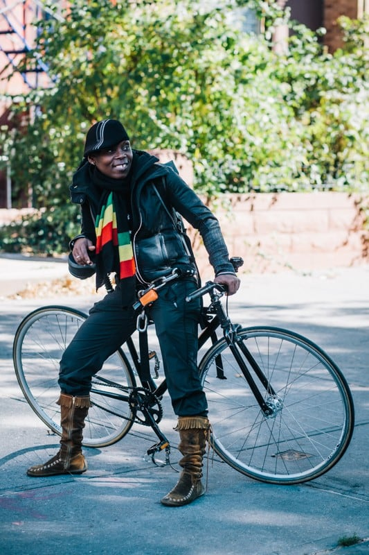 bikers56 - Stylish Portraits of NYC Cyclists With Their Bikes