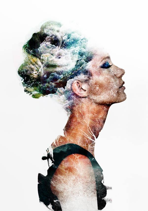 Double Exposure Portraits By Emi Haze -portraits, double exposure