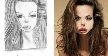 What Celebrities Would Look Like Based On Their Worst Fan Art 1