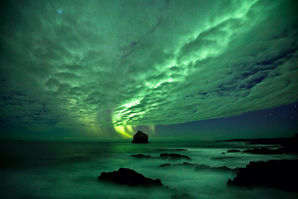 Northern Lights - Aurora Borealis As Seen From Iceland