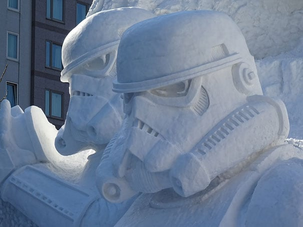 RZEFqgM - Japanese Army Builds Enormous Star Wars Sculpture For Snow Festival