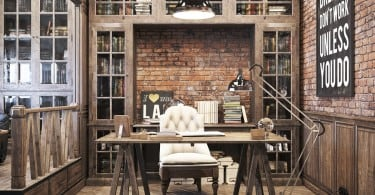 Vintage office for a private residence  Denis Krasikov - www.homeworlddesign. com (2)