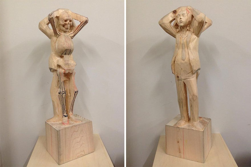 Wood-Sculptures-Of-Bizarrely-Twisted-Characters-By-A-Surreal-Japanese-Artist-11