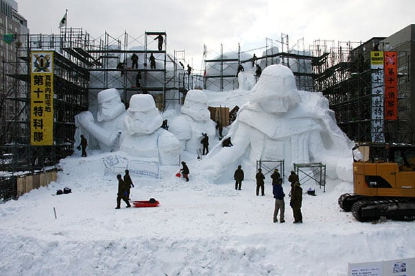 cPz3dCh - Japanese Army Builds Enormous Star Wars Sculpture For Snow Festival