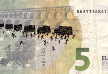 Greek Artist Stefanos Transforms Euro Notes Into Powerful Works Of Protest 4