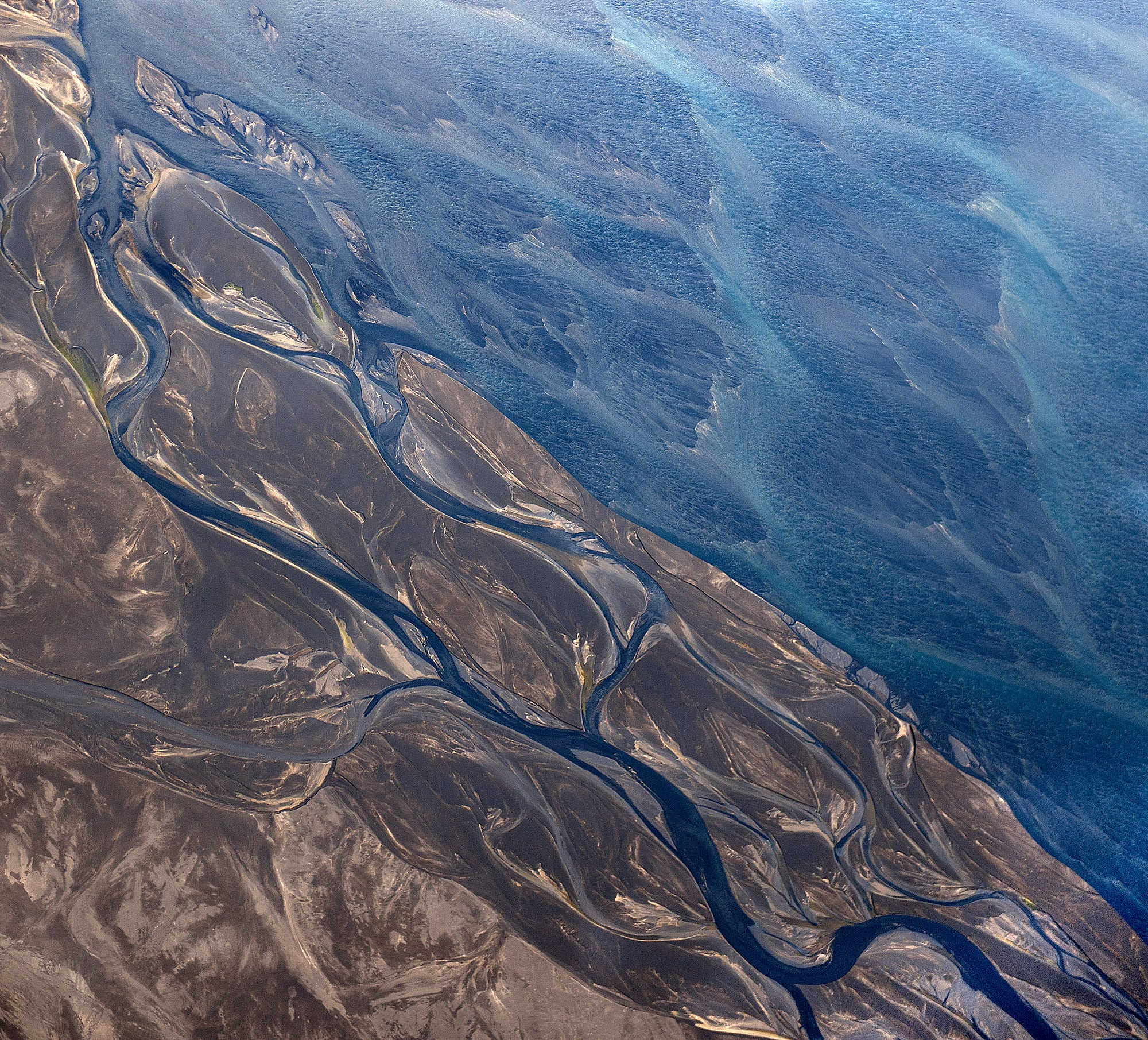 Stunning Aerial Photos Of Icelandic Rivers From Above -river, photos, nature, mountains, landscapes, Iceland
