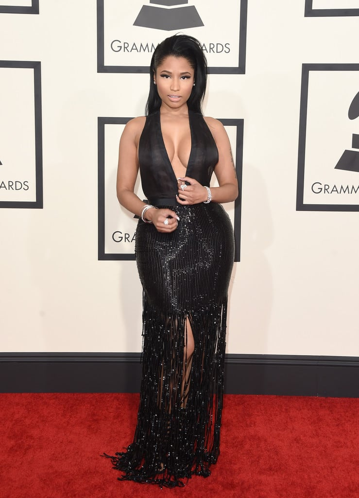 nicki-minaj-tom-ford-black-dress-grammys-2015