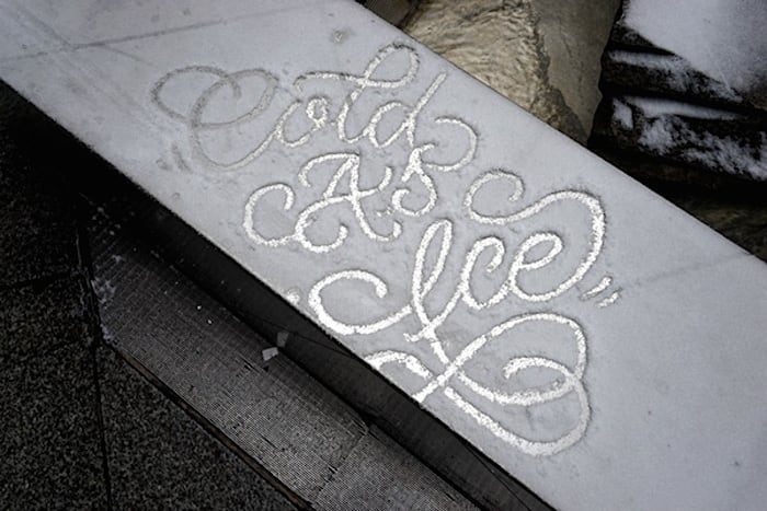 snow script faust ny 04 - Typography: Snow Script by Faust New York