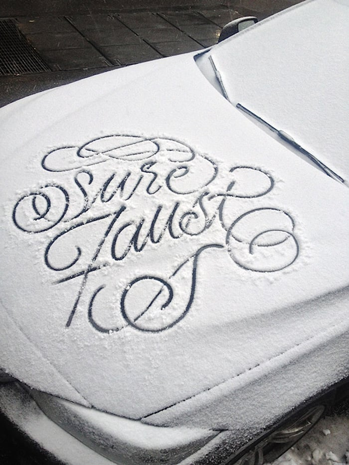 snow script faust ny 05 - Typography: Snow Script by Faust New York