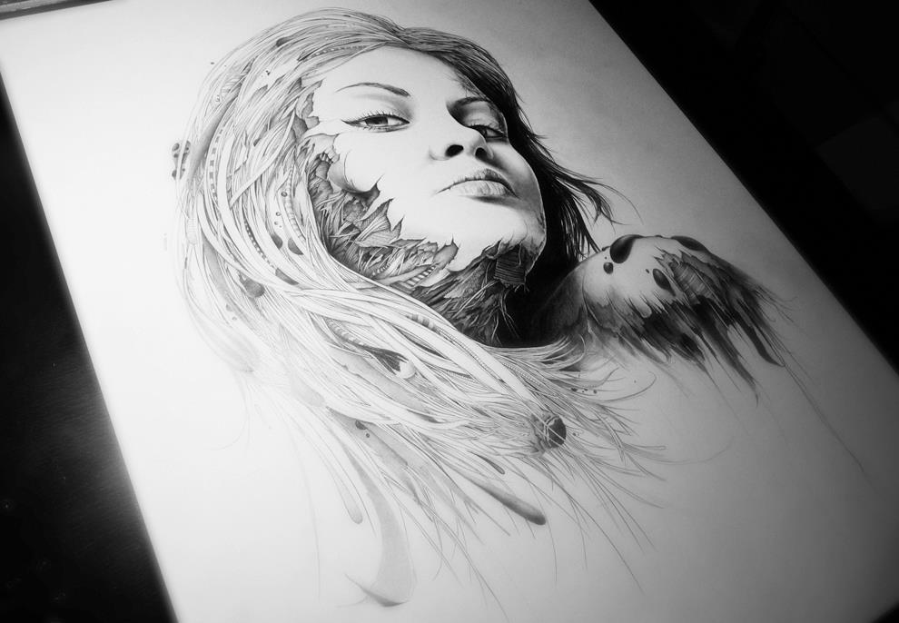 Incredible Pencil Drawings on Paper by PEZ -sketches, pop-culture, drawings, cartoon