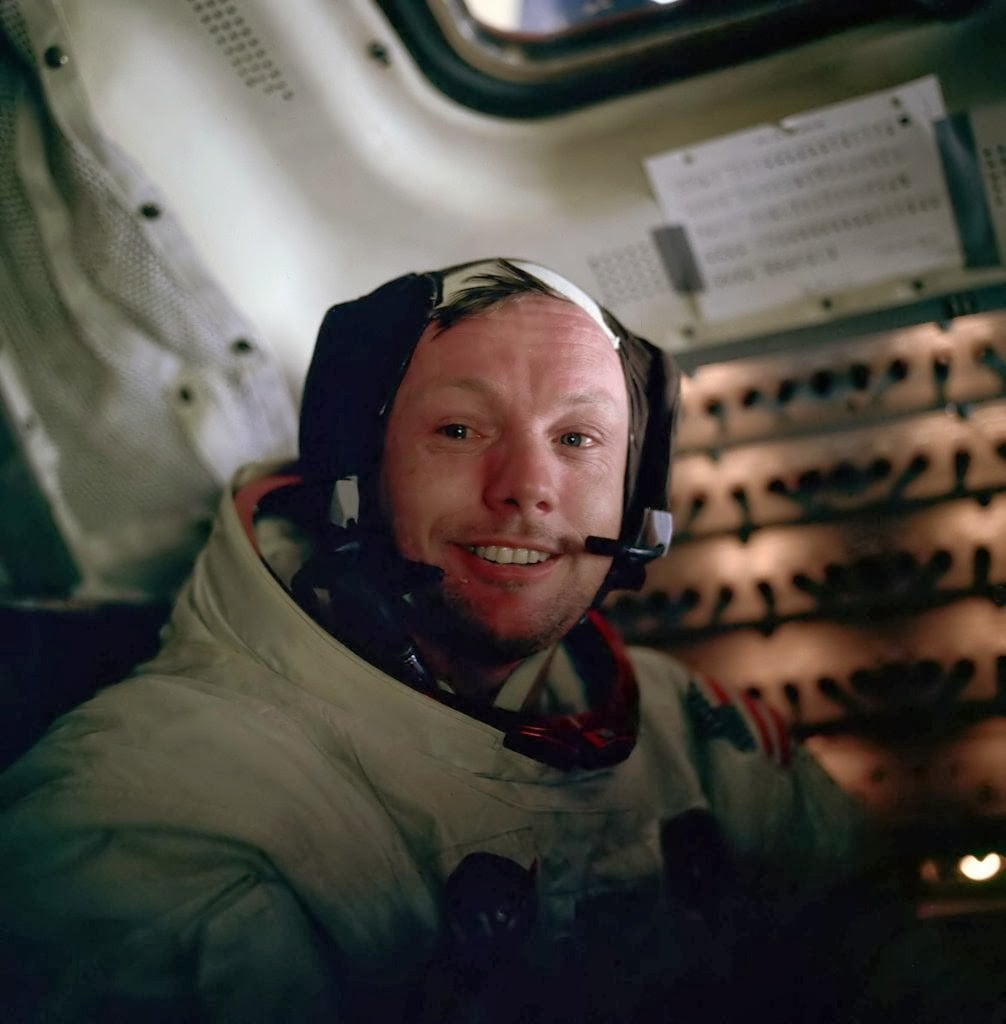 Neil Armstrong after his Moonwalk.