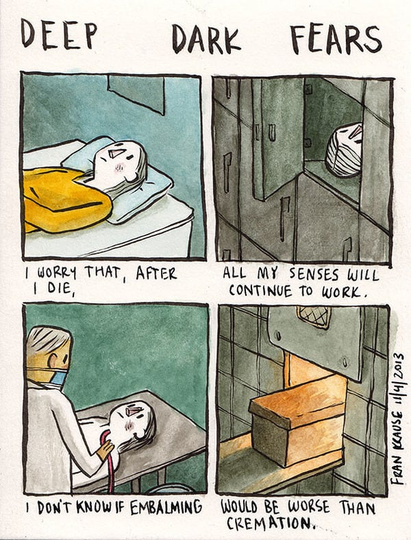 25 Of Our Deepest And Darkest Fears Turned Into Comics -illustrator