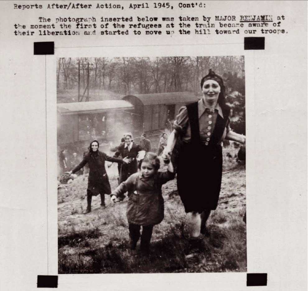 This was taken moments after Jewish refugees realized they weren't being sent to their deaths at the horrible concentration camps and were in fact being saved.