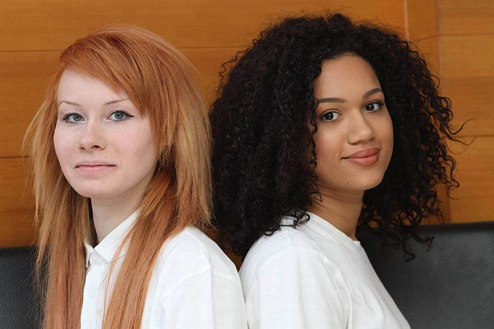 Black  White Non-Identical Twins Lucy And Maria Aylmer -2326