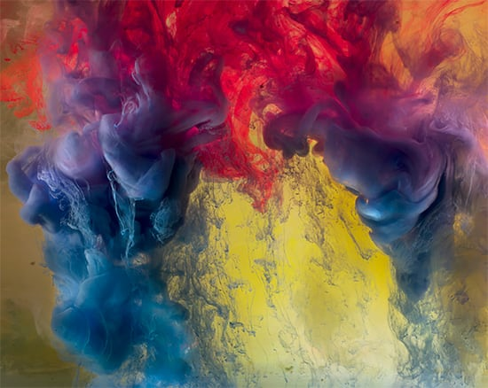 Abstract Liquid Experiments by Kim Keever -