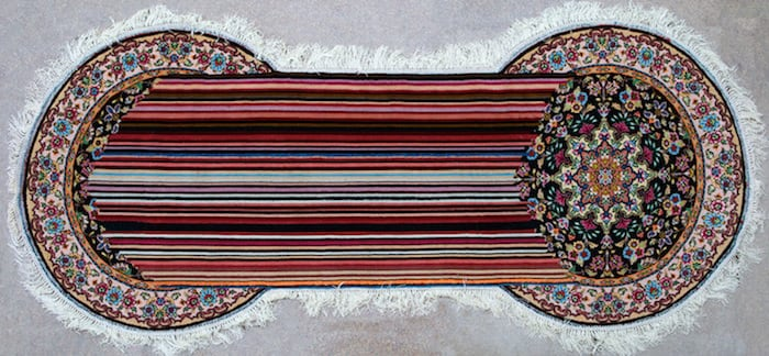 Traditional Azerbaijani Rugs recreated with technological Glitches -rugs