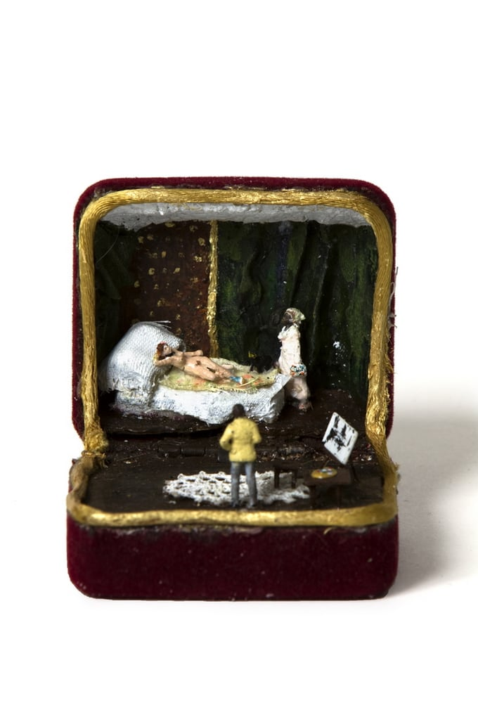 Canadian Artist Creates Miniature Dioramas in a Old Vintage Ring Boxes -pop-culture, miniatures, dioramas