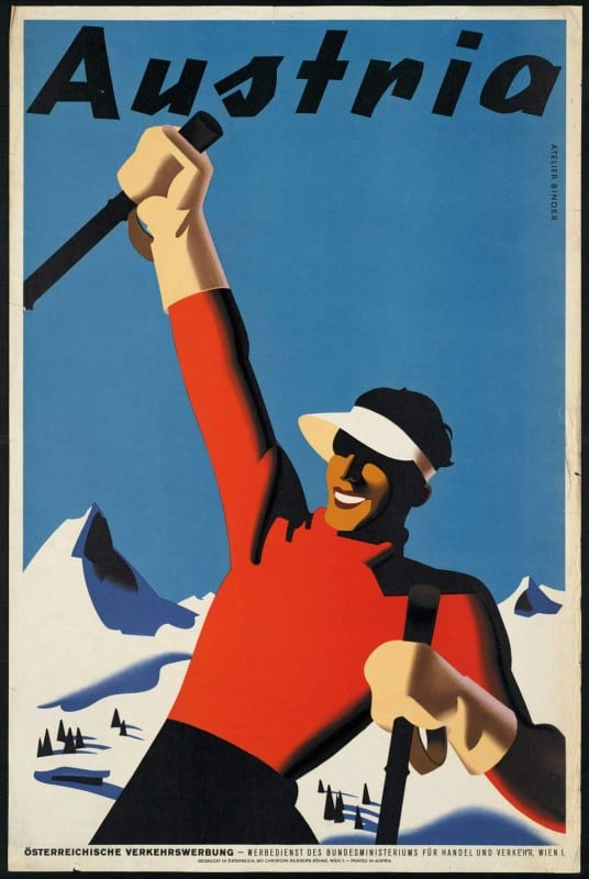 vintagePosters27 536x800 - 60 Beautiful Examples Of Vintage Travel Posters