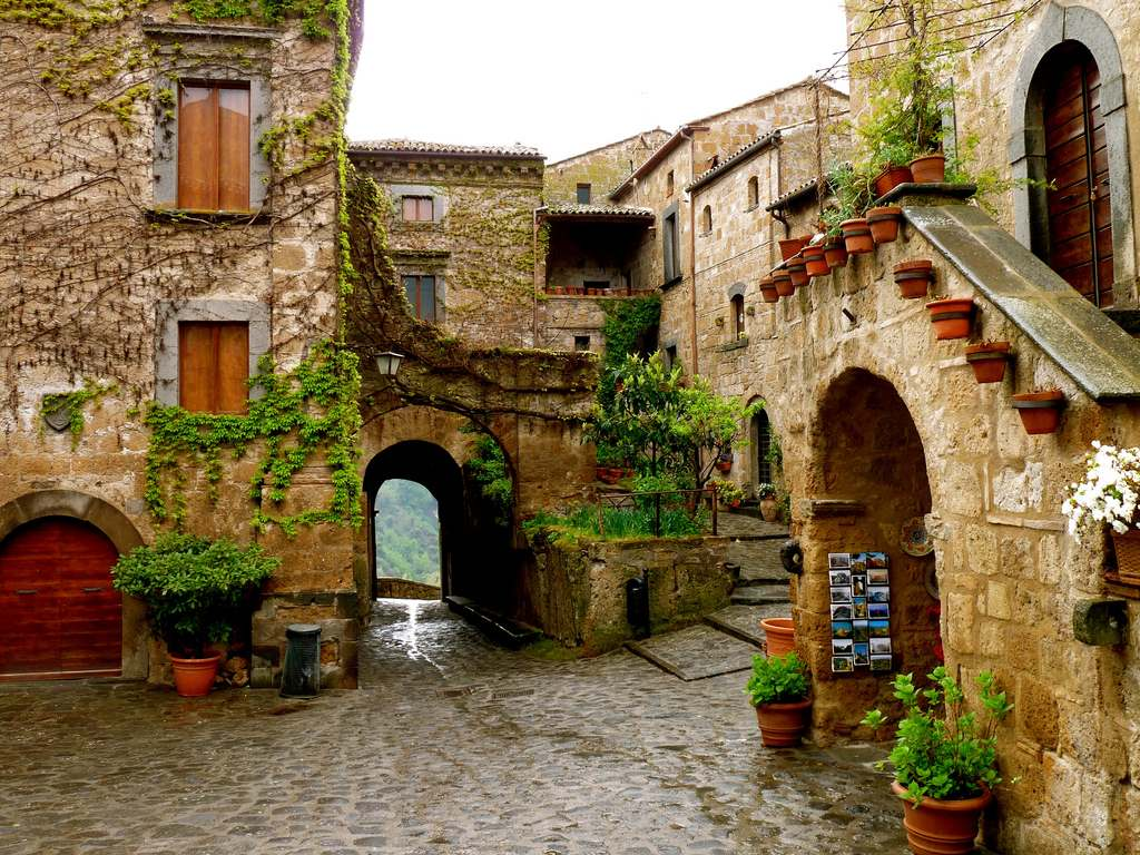 Civita Di Bagnoregio Ancient Endangered Hill Town In