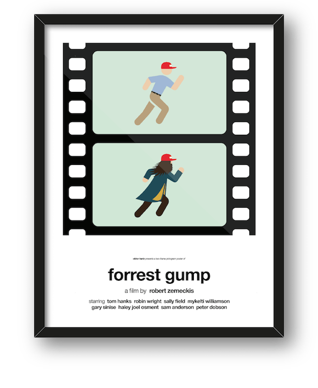 Summaries of Pop Culture Movies in Pictogram Posters by Viktor Hertz -posters, movie posters, illustrations
