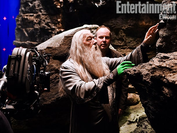 Michael Gambon and Yates, Harry Potter and the Half-Blood Prince (2009) Image Credit: Jaap Buitendijk