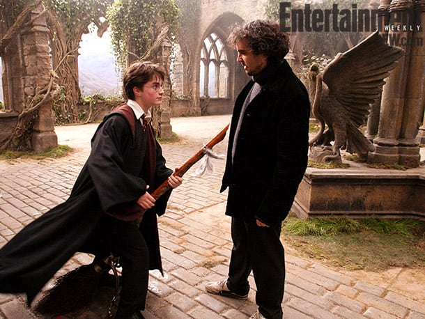 Radcliffe and Cuarón, Harry Potter and the Prisoner of Azkaban (2004) Image Credit: Murray Close
