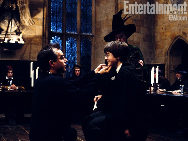 Columbus, Radcliffe, and Maggie Smith, Harry Potter and the Sorcerer's Stone (2001) Image Credit: Peter Mountain