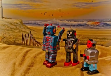 just another day at the beach with robots...
