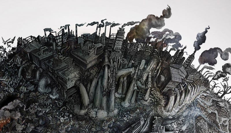 Amazing Detailed Drawings Showing the Harm We've Done to Earth -paintings