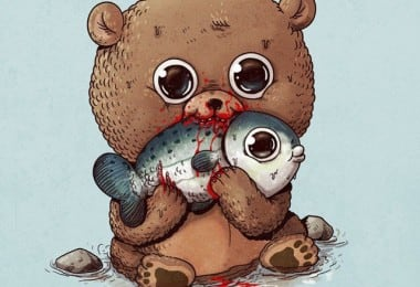 Alex-Solis-Adorable-and-Morbid-Illustrations-Of-Predators-1