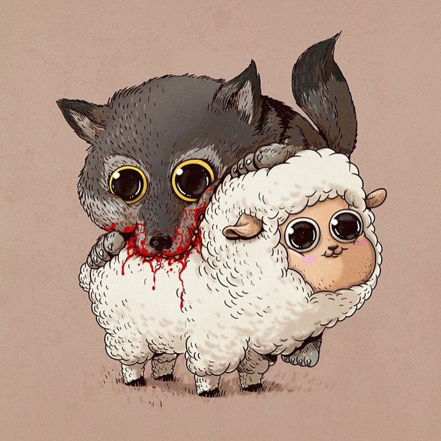 Alex-Solis-Adorable-and-Morbid-Illustrations-Of-Predators-2