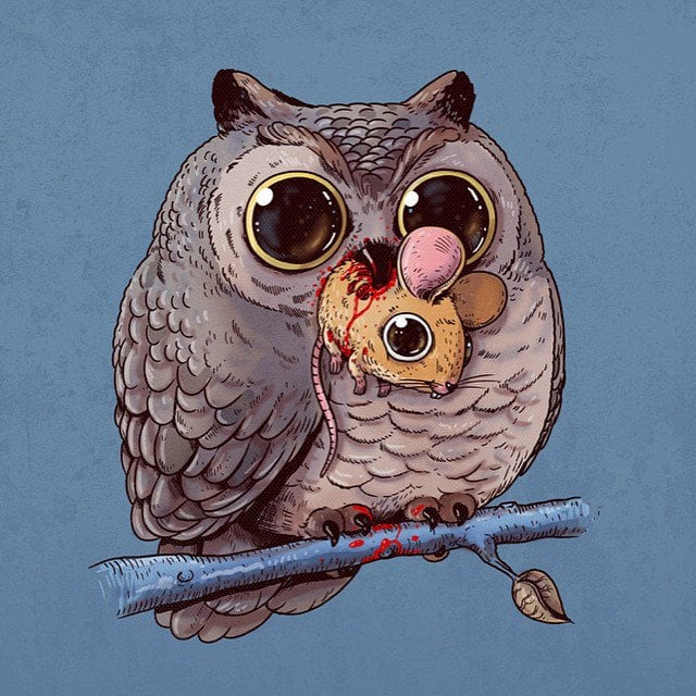 Alex-Solis-Adorable-and-Morbid-Illustrations-Of-Predators-6