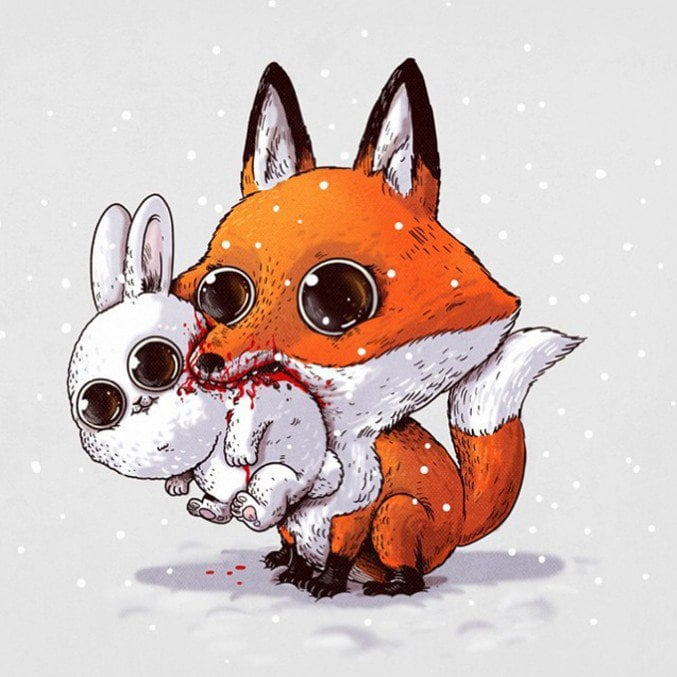 Alex-Solis-Adorable-and-Morbid-Illustrations-Of-Predators-7-677x677