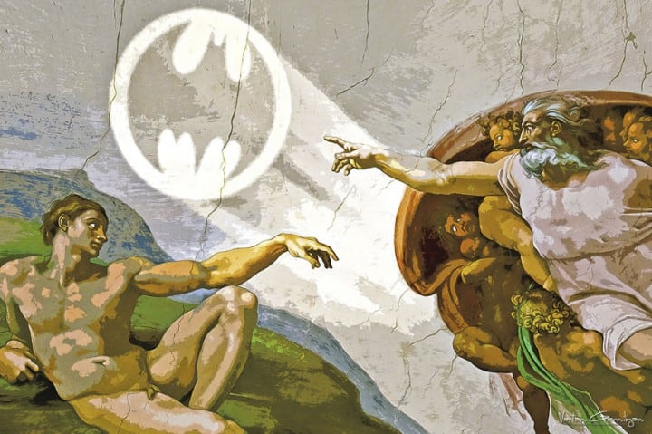 Artist-Turns-Famous-Classic-Paintings-Into-Batman-Themed-Pop-Art-5-720x479