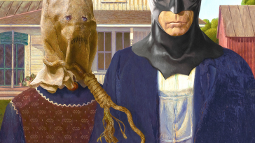 Artist Transforms Iconic Paintings Into Batman-Themed Pop Art -van gogh, paintings, batman