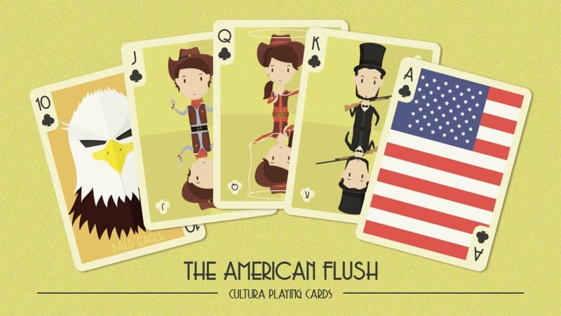 The american flush2 - Cultura Playing Cards KS