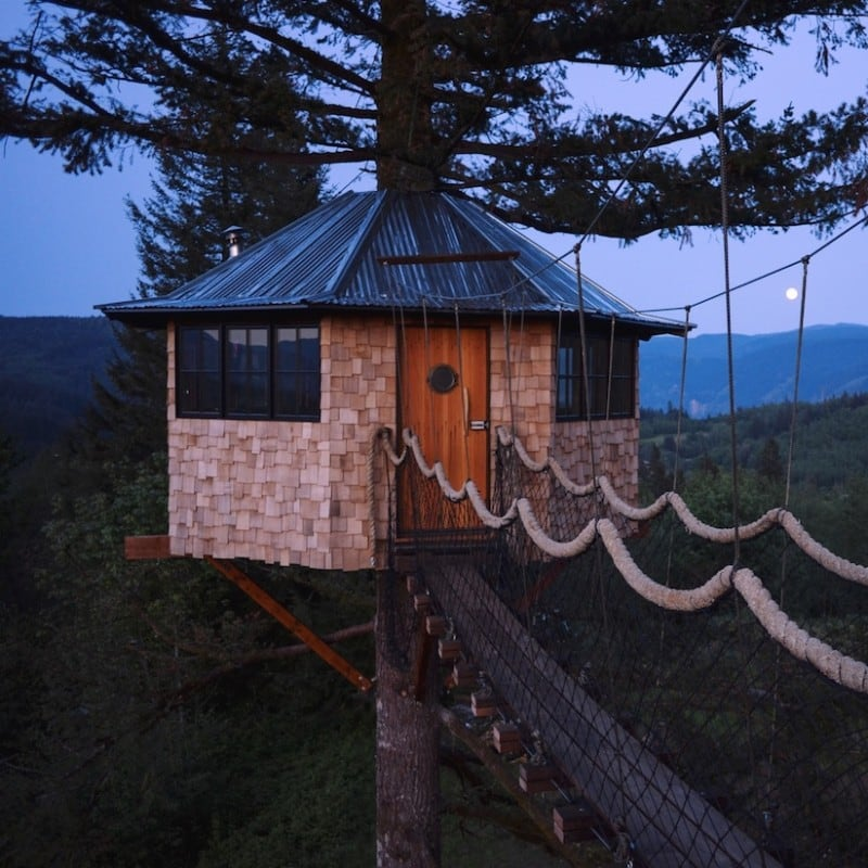 The Cinder Cone - Building a Tree House with a Skate Bowl and a Wood fired Soaking Tub in Skamania County -sports, forest