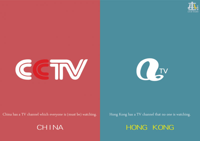 These Illustrations Show How Different Hong Kong From China -illustrations, Hong Kong, china