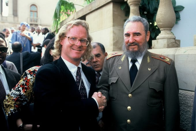 Peter Turnley and Fidel Castro, 1994