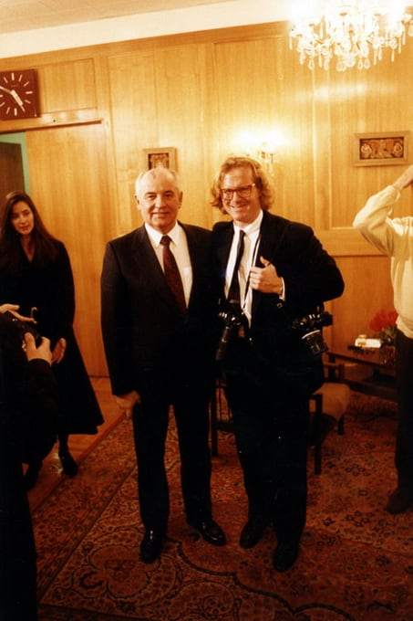 Mikhail Gorbachev and Peter Turnley