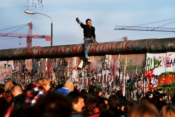 The fall of the Berlin Wall, 1989
